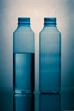 Two plastic bottles Stock Image