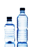 Two plastic bottles of water Stock Images