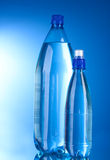 Two plastic bottles of water Stock Photo