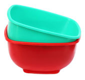 Two plastic bowl Stock Photos