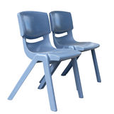 Two Plastic Chairs Stock Image