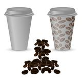 Two plastic cups with coffee Stock Image