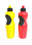 Two plastic drink bottles Stock Photos