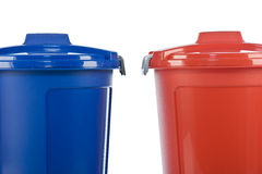 Two plastic drums Royalty Free Stock Photo
