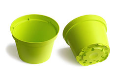 Two Plastic Plant Pots Stock Photos