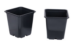 Plastic pots Royalty Free Stock Images
