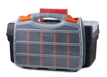 Two plastic tool box. Royalty Free Stock Photos