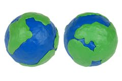 Two plasticine hemisphere Royalty Free Stock Photos