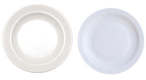 Two plates Royalty Free Stock Photography