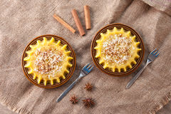 Two plates with halva Royalty Free Stock Images