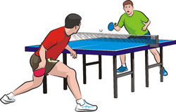 Two players play table tennis Royalty Free Stock Photo