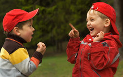 Two playful kids Royalty Free Stock Images