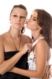Two playful women Stock Photo