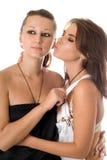 Two playful women stock photo