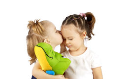 Two playing children Royalty Free Stock Photos