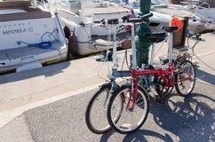 Two pliable bicyles Royalty Free Stock Photo