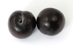 Two Plums Royalty Free Stock Photography