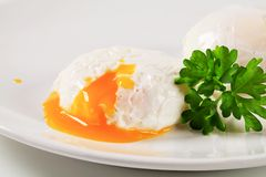 Two poached eggs Royalty Free Stock Photography