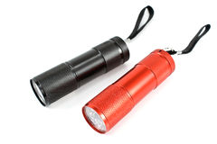 Two pocket flashlight torch Royalty Free Stock Images