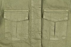 Two pocket khaki color close-up Royalty Free Stock Photo