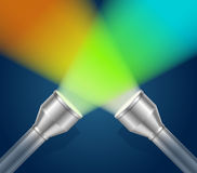 Two Pocket Torch Light. Vector Royalty Free Stock Photos