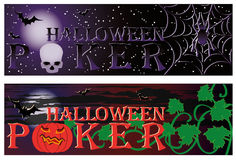 Two Poker halloween banners Royalty Free Stock Photography