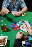 Two poker players Stock Image