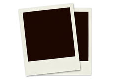 Two Polaroid frames isolated Royalty Free Stock Images