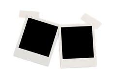 Two polaroid photos. Isolated on white Stock Photos