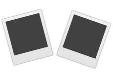 Two polaroids. Isolated on white Royalty Free Stock Photo