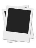 Two polaroids. Two polaroid frames isolated on white background Royalty Free Stock Photography