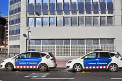 Two police cars of Barcelona, Spain Stock Photography