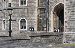 Two police on guard at Windsor Castle, Berkshire Royalty Free Stock Photography