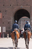 Two policemen on horseback Stock Photo