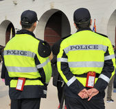 Two policemen in South Korea Stock Photography