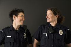 Two Policewomen. Royalty Free Stock Photos