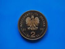 Two Polish Zloty coin, Poland Stock Images