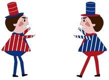 Two Politicians stock illustration