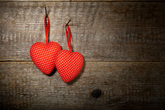 Two polka dots  hearts Stock Image