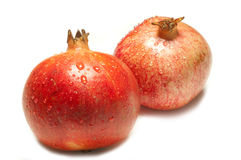 Two Pomegranate Royalty Free Stock Images