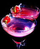 Two pomegranate cocktail glass with cherry 77 Stock Photos