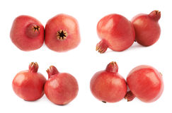 Two pomegranate composition isolated Stock Photography