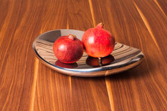 Two pomegranate Stock Photography