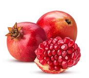 Two pomegranate and piece stock photography