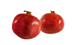 Two pomegranates. Isolted on the white Stock Images