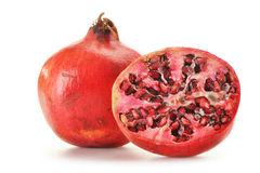 Two pomegranates isolated on white Stock Images