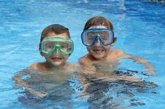 Two in pool Royalty Free Stock Photography