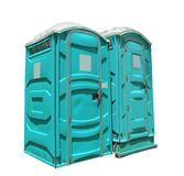 Two portable toilets Royalty Free Stock Images