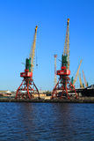 Two portal Ganz cranes Royalty Free Stock Photography