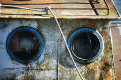 Two portholes Stock Images